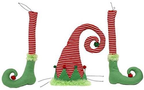 Elf Decor Kit for Wreath and Craft Making (3 Piece) Red, White, Green, 30 in. Christmas Elf