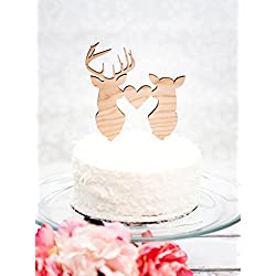 Susie85Electra Cake Topper Deer Head Buck Head Hunting Theme Country Antler Wedding Cake Toppers Hunting Themed Topper