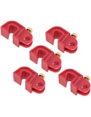 5PCS Universal Circuit Breaker Lockout Red with Twisted Screw, Simple to Apply and Lockout a Maximum Diameter of 13mm