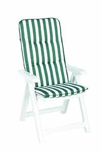 Best 96206909 silla de jardín - sillas de jardín (Salón, Sólido, Asiento acolchado, 5 cm) Verde, Color blanco