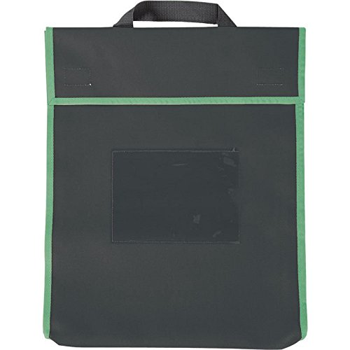 Large Book Pouches - Black With Neon Trim - 36