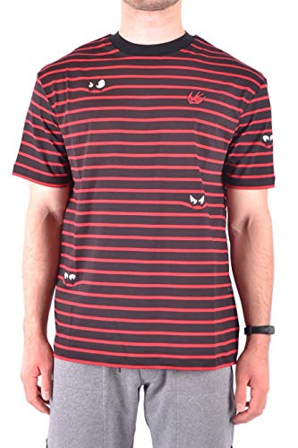 Alexander McQueen Men's 291571Rkt076054 Black/Red Cotton T-Shirt