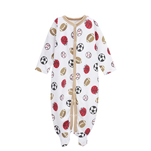 Little and Baby Boys Girls Footed Pajamas Sleeper 100% Cotton