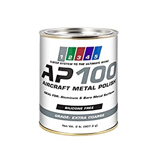 AP100 Aircraft Metal Polish (2lb) - Extra Coarse - for Airplane Aluminum & Bare Metal Surfaces, Brightwork, Meets Boeing & Airbus Requirements