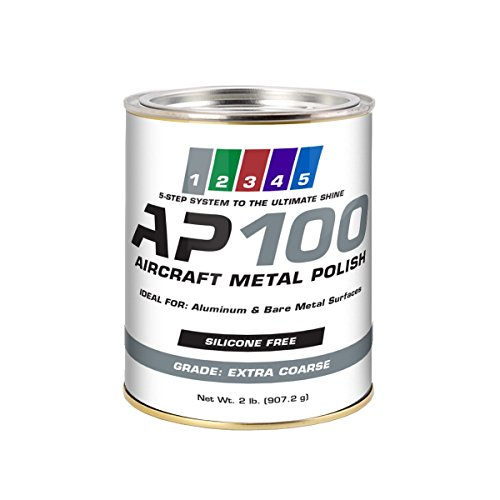 AP100 Aircraft Metal Polish (2lb) - Extra Coarse - for Airplane Aluminum & Bare Metal Surfaces, Brightwork, Leading Edges - Meets Requirements of Boeing and Airbus - Minimal Sling - Low Odor by Rolite (Image #4)