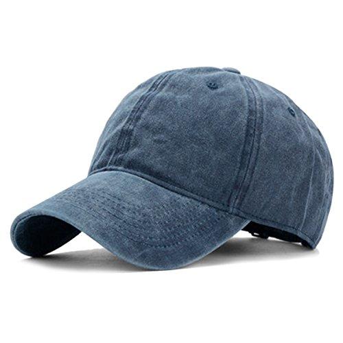 Womens Men Sport Baseball Visor Cap Plain Blank Golf Ball Hat(blue) - 8