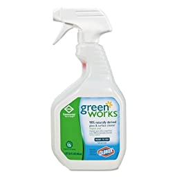 Clorox Professional Green Works Glass/Surface Cleaner, 32 oz. Spray Bottle (5 Bottles) - BMC-COX 00459