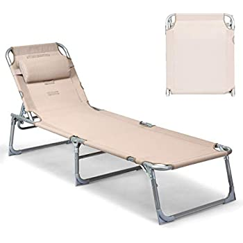 Amazon Com Outsunny 3 Position Reclining Beach Chair