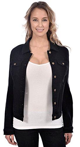 RedX Women's Classic Denim Spring Jean Jacket Black Size Small