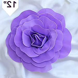 Mikash 12 Wide Artificial Large Roses Flowers Wall Backdrop Party Wedding Decorations | Model WDDNGDCRTN - 13396 | 7