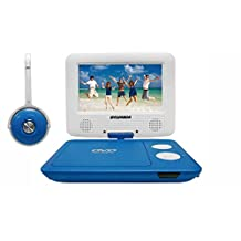 Sylvania SDVD7043-BLWHT 7-Inch Portable DVD Player with Matching Oversize Headphones, Blue