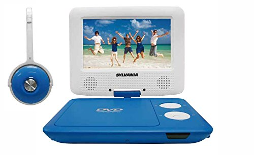 (Sylvania SDVD7043-BLWHT 7-Inch Portable DVD Player with Matching Oversize Headphones (Blue) )