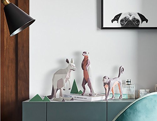 The Nordic modern Home Furnishing geometric animal TV cabinet resin living room cabinet zj0130102 ( Size : D ) by Supper pp