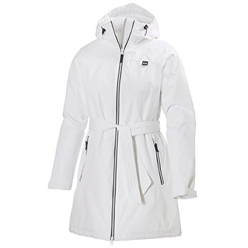 Helly Hansen Women's Long Bykkle Insulated Jacket, White, Large