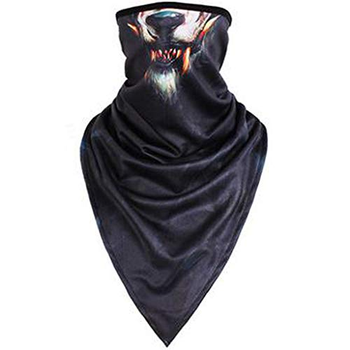 Outdoor Mask Cover Seamless 3D Animal Pattern Quick-Drying Windproof Headwear (Anonymous Paintball Mask)