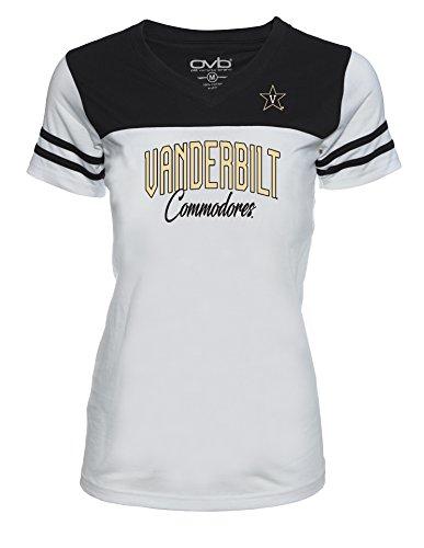 - Old Varsity Brand NCAA Vanderbilt Commodores Women's JRS Football T-Shirt, White/Black, X-Large