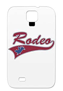 TPU Red For Sumsang Galaxy S4 Rodeo Buck Miscellaneous Rodeo Western Cowboy Bronco Sports Bull BULL RIDING Case Cover