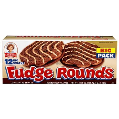 LIttle Debbie Fudge Rounds - 12 ct. (pack of 2)