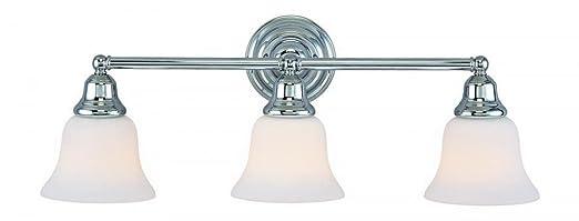 Dolan Designs 493 26 Brockport 3 Light Bathroom Fixture, Chrome