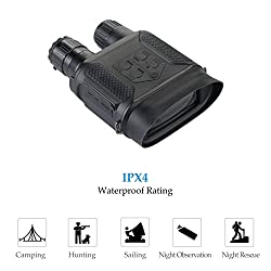Pinty 7x31 Night Vision Binoculars Digital Infrared Night Vision Scope, 640x480,30FPS, Photo Camera and Camcorder with 400m, 1300ft Viewing Distance, 4 inch Large Viewing