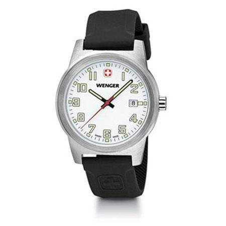 Wenger-Swiss-mens-Field-Classic-Watch-Large-42mm-White-Dial-Date-Silicone-Rubber-Sports-Strap-010441117