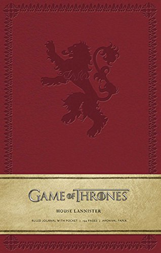 Game of Thrones: House Lannister Hardcover Ruled Journal for sale  Delivered anywhere in USA