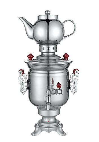 Zhongshan Jacal Electric Co., Ltd. Russian Modern Electric Samovar Classic Teapot Set Tea Kettle Teakettle price tips cheap