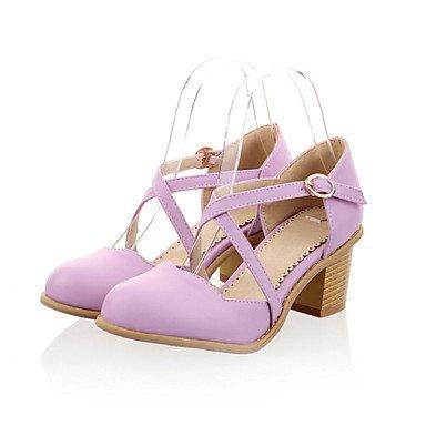 Le donne eleganti sandali Sexy Donna Sandali Primavera Estate Autunno scarpe Club Novità materiali personalizzati similpelle Party & abito da sera Casual Chunky Heel altri , blu , us8 / EU39 / UK6 / C