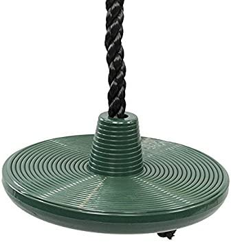 Squirrel Products Heavy Duty Plastic Tree Swing Disc Rope Swing With Leg Protectors Additions Replacements Outdoor Play Equipment Green Kitchen Dining