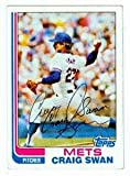 Autograph Warehouse 72457 Craig Swan Autographed Baseball Card New York Mets 1982 Topps No . 592 Ballpoint Pen