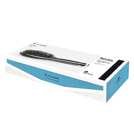 Perfect Beauty Striking Ionic Pro - Cepillo térmico iónico alisador profesional | Control digital temperatura 230 ºC | Antiencrespamiento | Color negro: ...