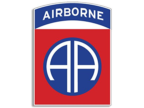 American Vinyl 82nd Airborne AA Insignia Shaped Sticker (Army SSI Logo 82)