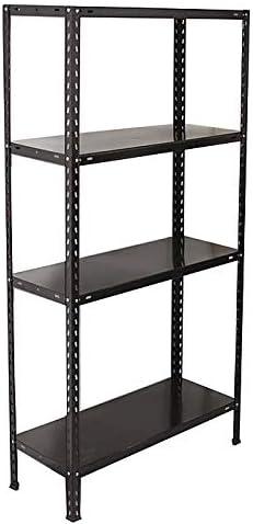 DS - Estantería metálica Negra con 4 estantes, Estilo ...