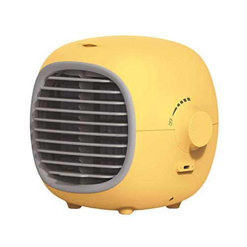 Miami Ventilador de Aire Acondicionado Enfriador de Aire Portatil Ventilador de Escritorio Pequeno, Gran Capacidad 200 Ml Facil de Transportar, Muy Adecuado para Uso Domestico Y de Oficina