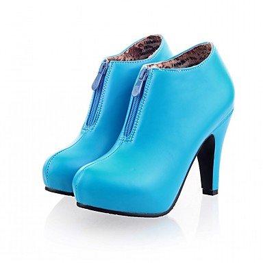Invierno Otoño Confort Round De CN35 Moda Zapatos Parte Botines RTRY Stiletto Pu 5 UK3 Talón Cremallera EU36 De De Botas Piel Botines Toe 5 Novedad De Botas Sintética Mujer US5 vWRzawqP