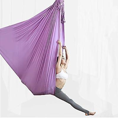 SHPEHP 5M Hamaca de Yoga aérea Yoga Trapecio Yoga Pilates Air Set ...