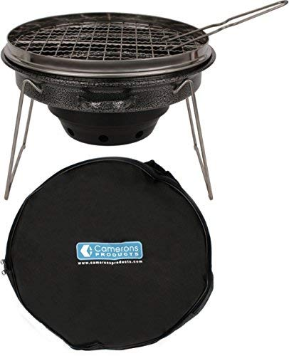 Tailgater Grill - Portable Camping or Tailgating Grill with 12 Non Stick Stainless Grill Surface and Carry Bag Camerons Products CTG Tailgator