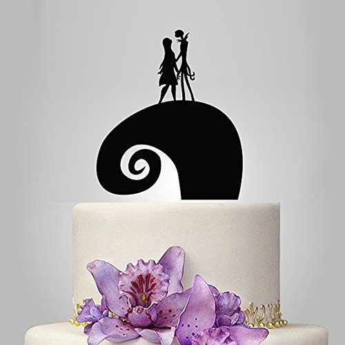Acrylic Jack and Sally Wedding Cake Topper/Wedding Stand/Wedding Decoration Wedding Cake Accessories Marriage