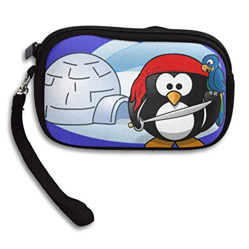 Women Wallets Eskimo Panguin Bird Wristlet Clutch Wallet Zipped -