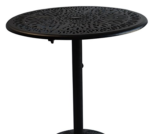 K&B PATIO LD777PD-36 Elizabeth Pedestal Round Dining Table, 36