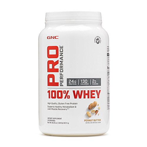 GNC Pro Performance 100 Whey Protein - Peanut Butter 1.89 lbs. (Advanced Muscle Performance Amplified 100 Whey Protein)