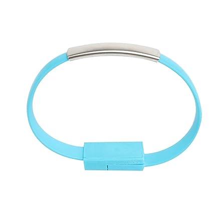 UHAoo USB Pulsera de Cuero Enlace Cable de Carga Banda de ...
