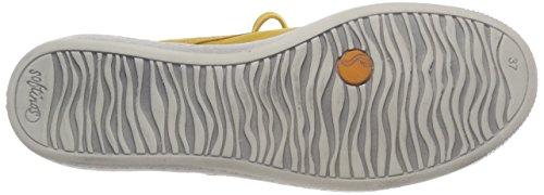 Softinos Damen Indira Washed Hohe Sneaker Gelb (Yellow)