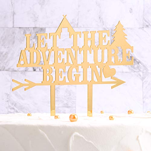 Family Party Cake Topper-Let the Advanture Begin, Birthday/Wedding/Gruduation Cake Topper, Wedding Decorations ()