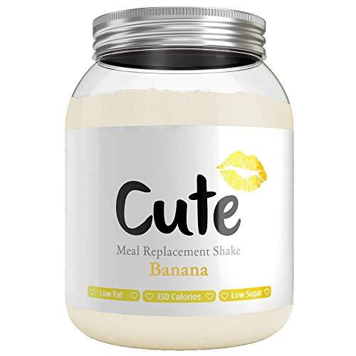 🥇 Cute Nutrition Batido Sustitutivo de Comida Sabor Platano para el Control de la Pérdida de Peso en Polvo Bebida Dietética para Mujer Bote de 500 g