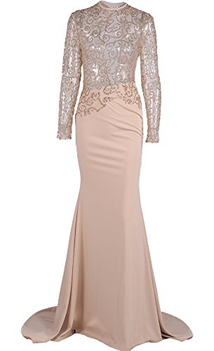f1cf1c402d Miss ord Women s O Neck Long Sleeve Bodycon Maxi Dress for Prom ...
