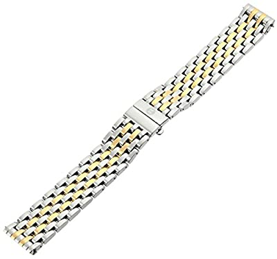 MICHELE MS16DM285048 Deco 16 16mm Stainless Steel Two Tone Watch Bracelet by MICHELE