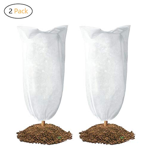 DOBMIT 2PACK Plant Cover for Forest Protection, 35.4″x59″ Freeze Protection Bags for Winter