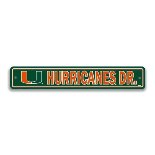 NCAA Miami Hurricanes Street Sign Ncaa Miami Hurricanes Street Sign