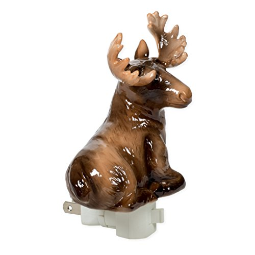Moose 4 x 6 Porcelain Electric Wall Swivel Plug-In Night Light